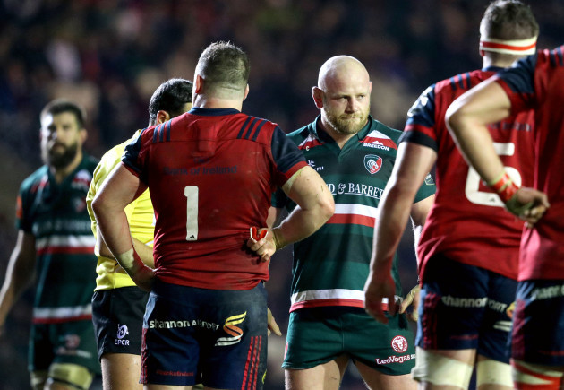 Dan Cole reacts after been given a yellow card 17/12/2017