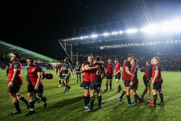 Munster celebrate after the game 17/12/2017