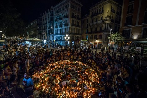 Barcelona Terror Attack Memorials