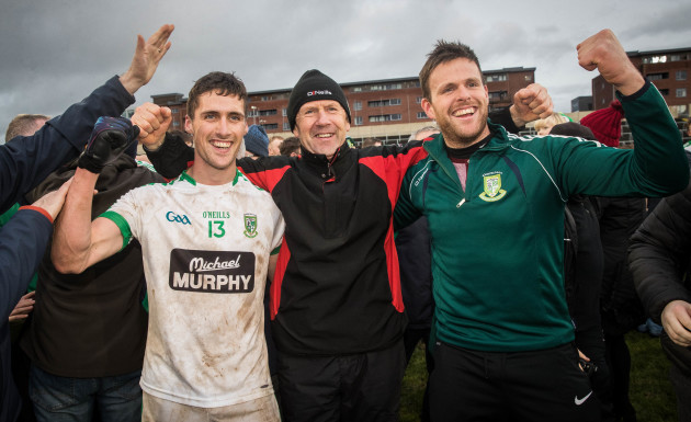 Eanna O'Connor celebrates with Jack O'Connor and Cian O'Connor 17/12/2017