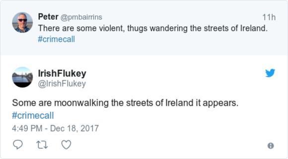 A burglar was caught moonwalking on CCTV on RTÉ's Crimecall last