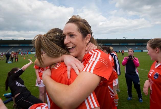 Caroline O'Hanlon and Sharon Reel celebrate
