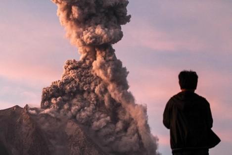 INDONESIA-NORTH SUMATERA-MOUNT SINABUNG-ERUPTION