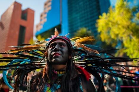 Day of the Dead (Dia de Muertos) celebration in Mexico City, Mexico