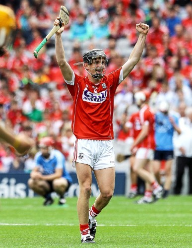 Cork's Daire Connery celebrates at the final whistle
