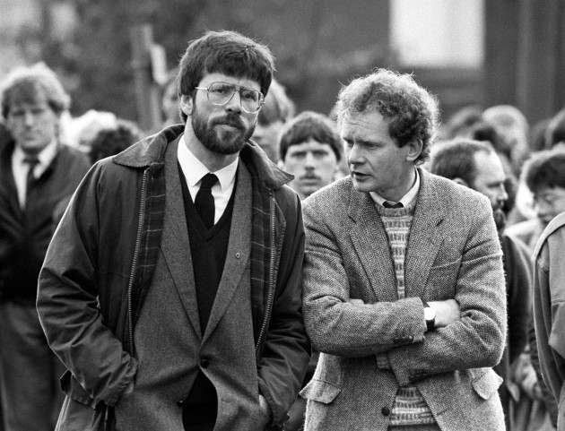 Patrick Kelly Funeral - Gerry Adams and Martin McGuinness - East Tyrone