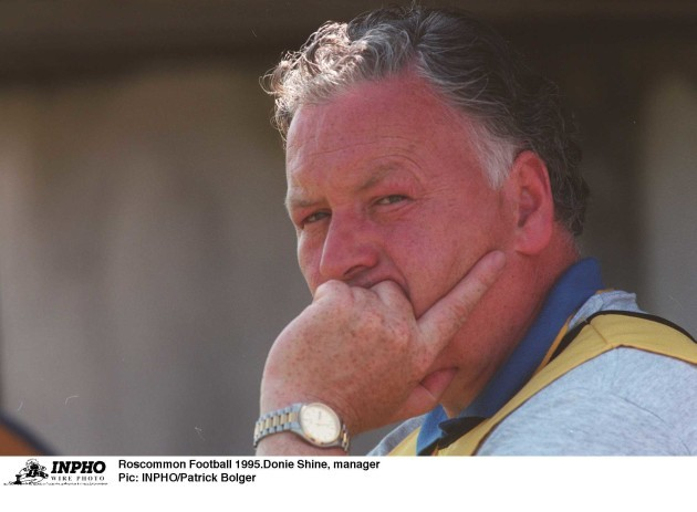 Donie Shine  manager Roscommon Football 1995