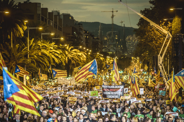 Mass Protest in Defense of Deposed Catalan Government