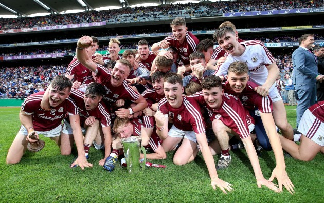 Galway celebrate after the game