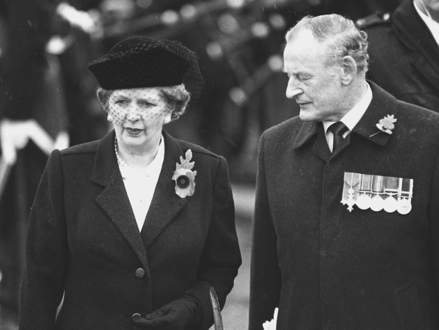 Thatcher in Enniskillen.