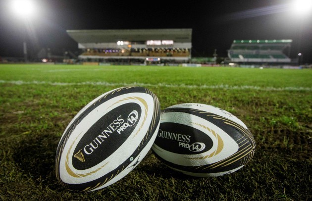 A view of Guinness PRO14 match balls