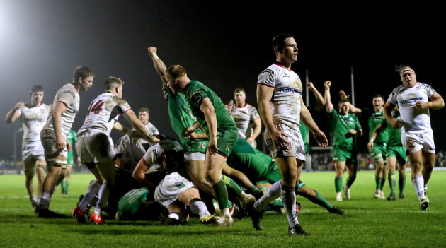 John Cooney dejected after Connacht scored there fourth try