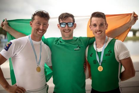 Mark O'Donovan and Shane O'Driscoll with Paul O'Donovan