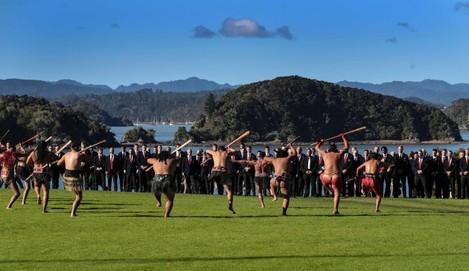 The British and Irish Lions accept the Maori challenge
