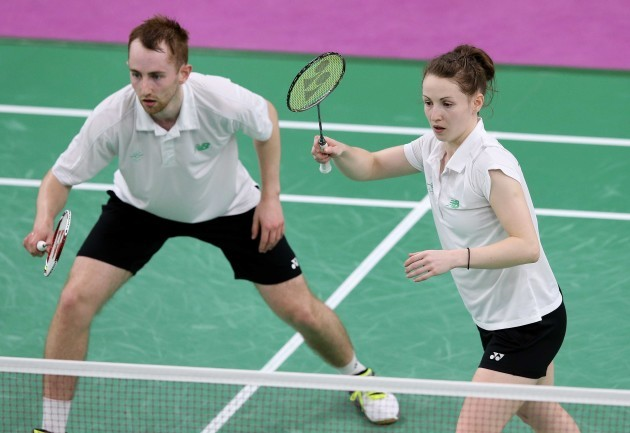 Sam Magee and Chloe Magee in action against Gaetan Mittelheisser and Audrey Fontaine