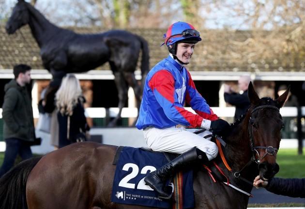 Daniel Holden onboard Ellie Mac celebrates winning