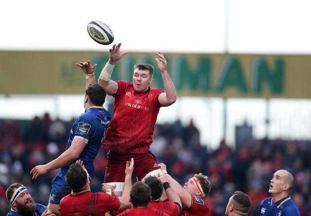 Peter O'Mahony with James Ryan in the line-out