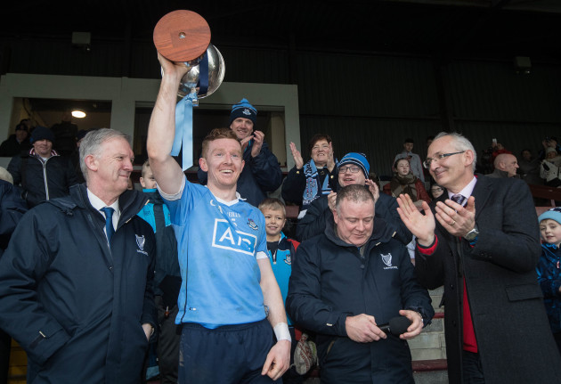 Ciaran Reddin lifts The Bord na Mona O'Byrne Cup