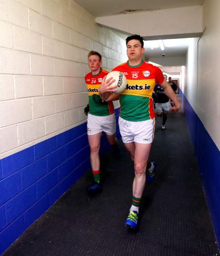 Shane O'Neill and John Murphy take to the field