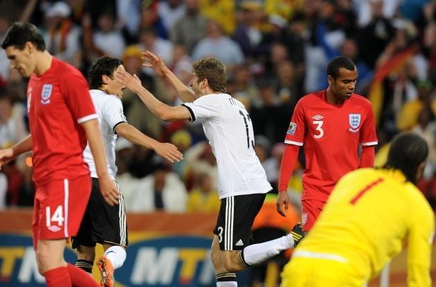 Soccer - 2010 FIFA World Cup South Africa - Round Of 16 - Germany v England - Free State Stadium