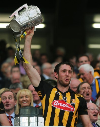 Kilkenny's Michael Fennelly lifts the cup