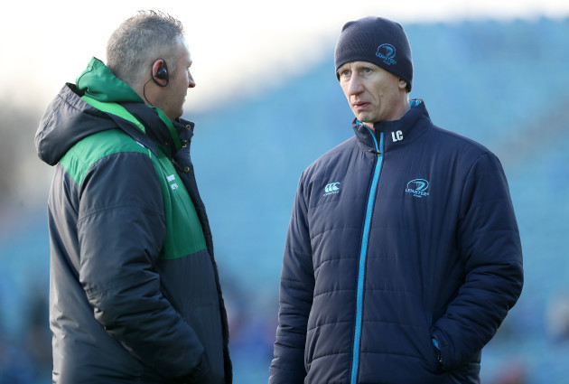 Jimmy Duffy with Leo Cullen ahead of the game