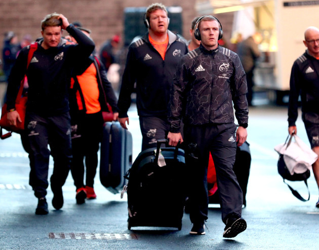 Keith Earls arrives