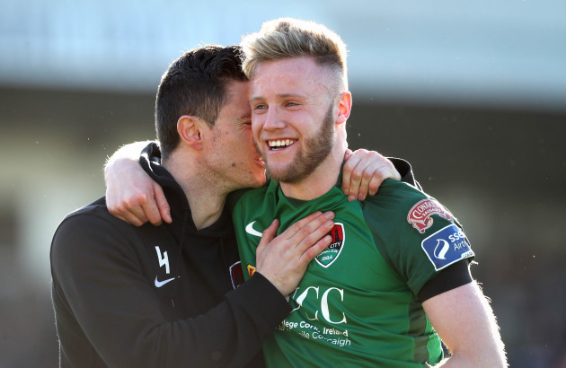 Johnny Dunleavy and Kevin O'Connor celebrate