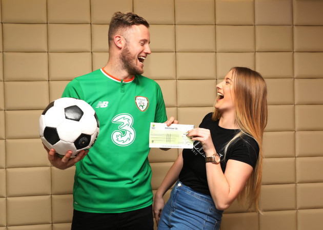 Millionaire Raffle winner collects €1 million Euro from National Lottery 0P1A8885