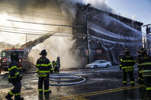 7 Alarm Fire In Bronx, New York