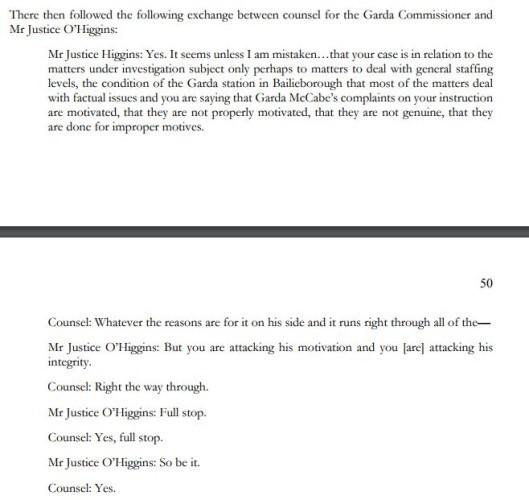 tribunal counsel garda comish
