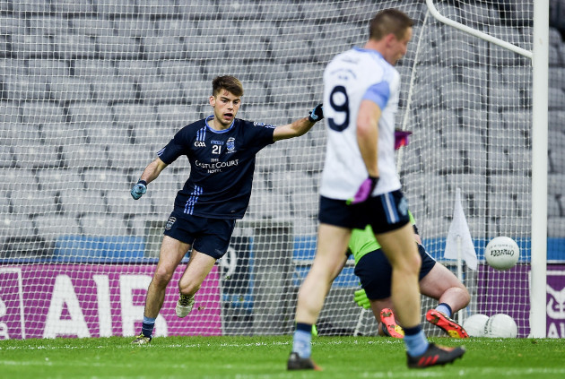 Oisin McLoughlin celebrates after scoring a goal