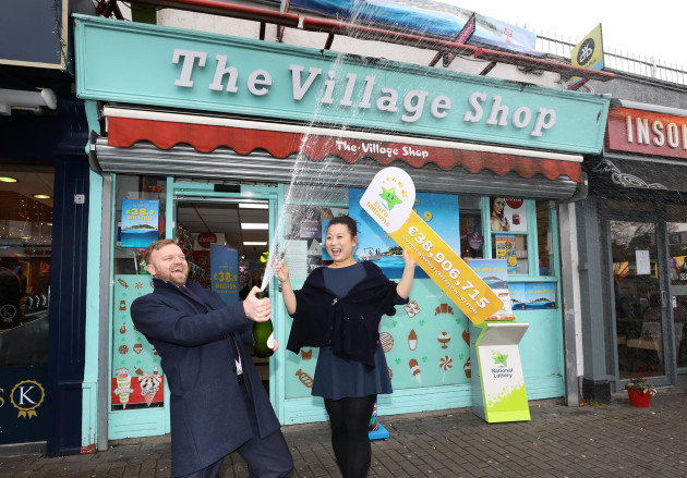 Village Shop Malahide Dublin sell EuroMillions €38,900,000 winning ticket 0P1A9119