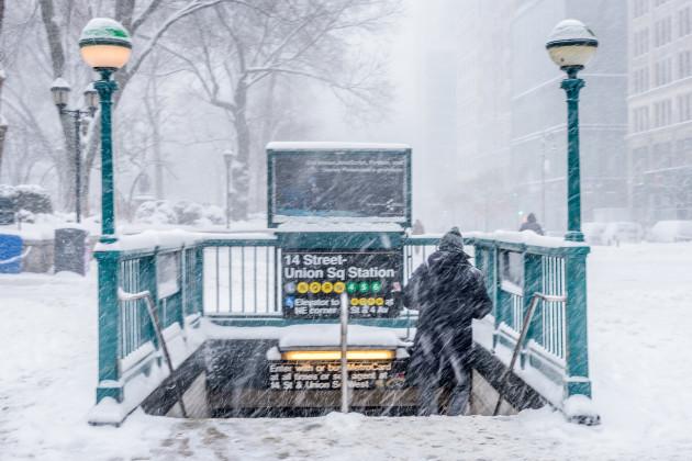 NY: Bomb Cyclone Snow Storm Slams New York