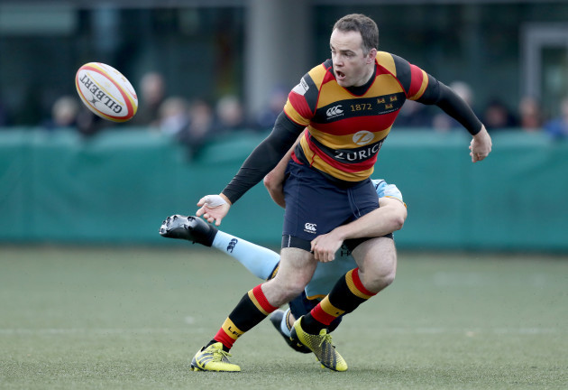 Scott Deasy is tackled by Nick Peters