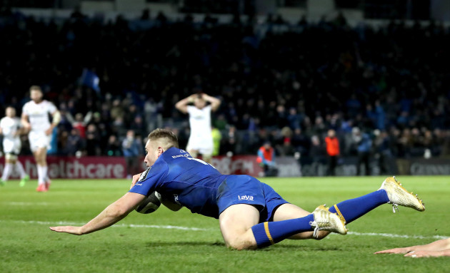 Jordan Larmour scores a try that was the disallowed