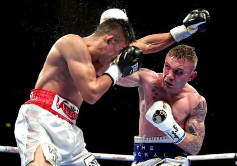 Carl Frampton in action against Horacio Garcia