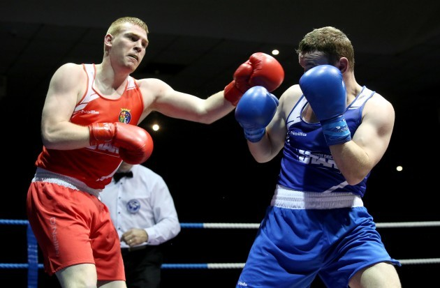 Christopher Blaney in action against Sean McGlinchey