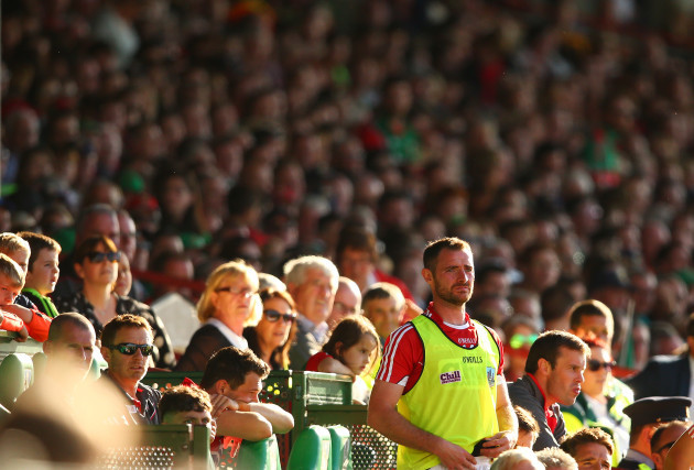 Donncha O'Connor looks on during the match