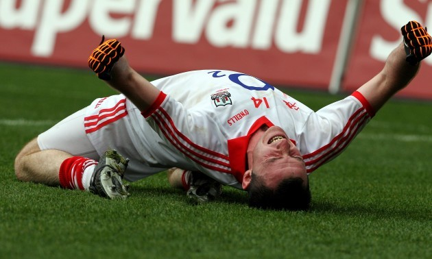 Donncha O'Connor celebrates at the final whistle