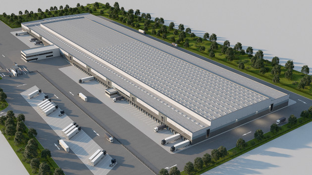 CGI of Lidl's new warehouse