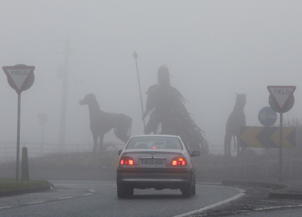 Headlights in the mist