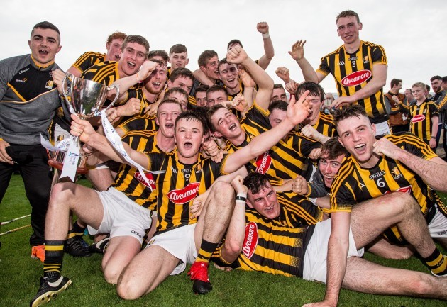Kilkenny celebrate after the game with the trophy