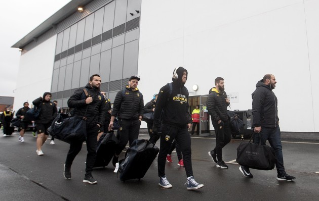 La Rochelle arrive at the Kingspan Stadium