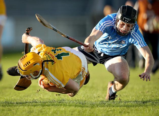 Ronan Smith tackles Connor McCann