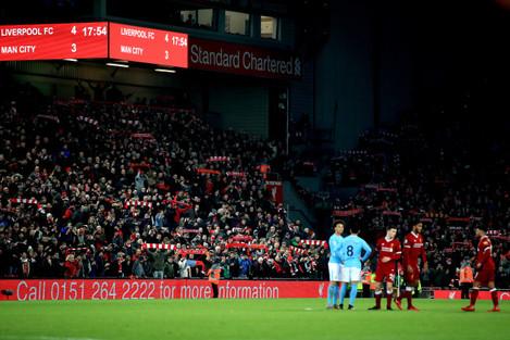 Liverpool v Manchester City - Premier League - Anfield