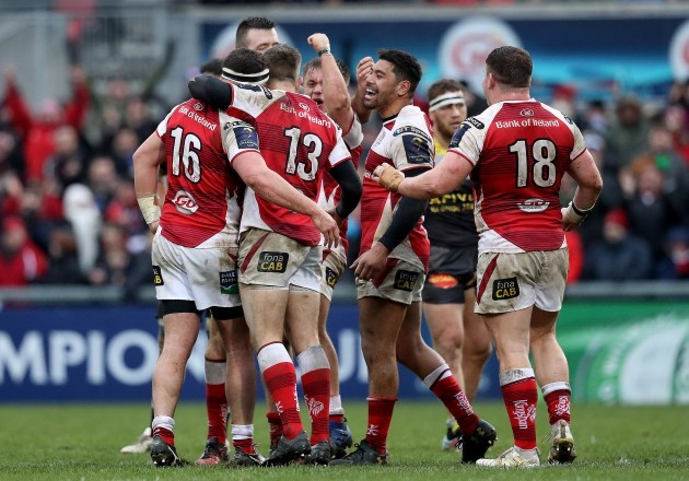 Ulster celebrate at the final whistle