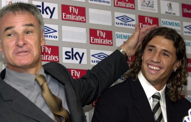 New signing Hernan Crespo