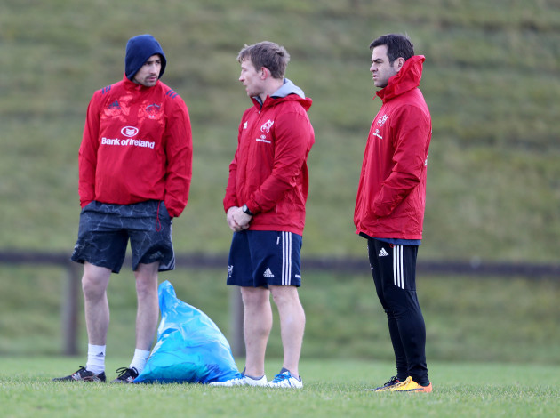 Felix Jones, Jerry Flannery and Johann van Graan