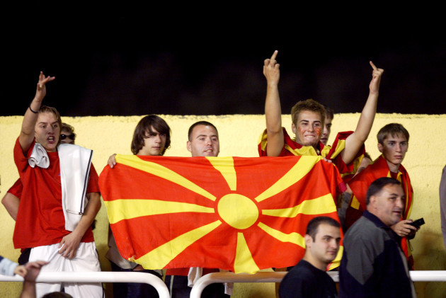 Soccer - European Championships 2004 Qualifier - Group Seven - Macedonia v England